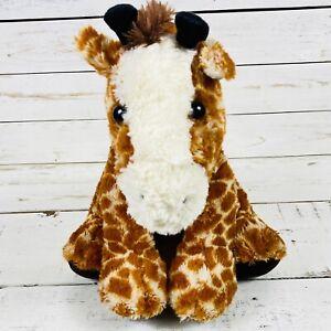 Aurora World Sitting Giraffe Plush 13 inches Orange White Stuffed Animal Toy