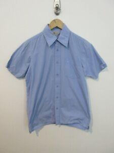 Carhartt Mens Shirt Size M Short Sleeve Button Up Regular Fit Light Blue