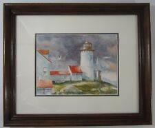 Watercolor Lighthouse Eastern Point Gloucester Massachusetts? Original Painting