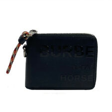BURBERRY Round wallet 8037588 leather Black Black Used mens