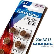 20x ag13 Grundig pilas de botón batería 357 lr44 LED linterna clave