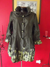 Women's Floral Polyester Basic Coats