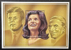 GAMBIA JACQUELINE KENNEDY ONASSIS STAMPS SS 1996 MNH JOHN F KENNEDY ARISTOTLE