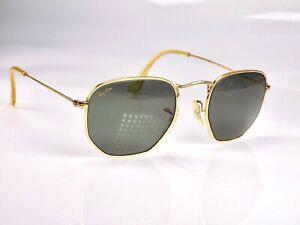 Vintage 1990's B&L Ray Ban Hexagonal Classic 3 W0980 Sunglasses & Case