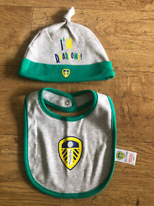 Baby Leeds United Hat And Bib 6-9 Months