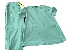 Figs scrubs Set, Limited Edition Fionlite Xs Top, Small Bottom Blue/green