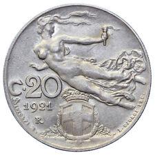 20 Cent 1921 Damen Nation Vittorio Emanuele III Reich D'Italia Q. FDC #7855
