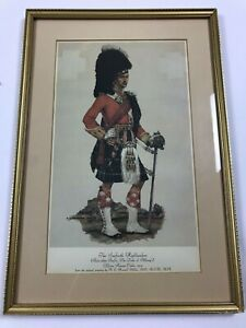 """The Seaforth Highlanders A. E. Haswell Miller Art Print Framed 10.5x15.5"""""""