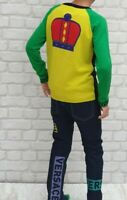 NEW Young Versace RRP £600 Kids Boys Childrens AGE 8 Jeans Top Jumper A206