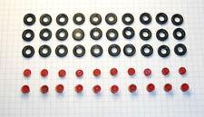 H0: 17 5000 052:  Sortiment Reifen und Felgen für Lkw wie W50 / G5. Felgen rot