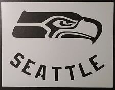 "Seattle Seahawks 11"" x 8.5"" Custom Stencil FAST FREE SHIPPING"