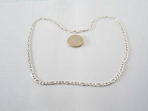 collana catena maglia grumetta alternata unisex in argento 925 made Italy cm. 50