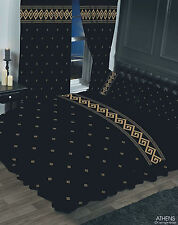 BLACK & GOLD TRADITIONAL GREEK KEY DOUBLE BED ATHENS DUVET COVER BED LINEN SET