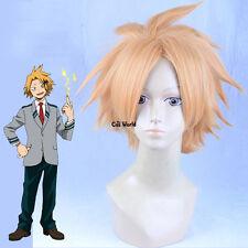 My Hero Academia Kaminari Denki Golden Short Curly Full Hairs Anime Cosplay Wigs