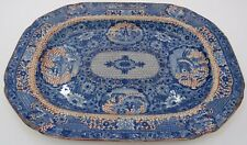 Antique Victorian Blue & White Transfer-Printed Small Platter