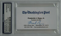 WASHINGTON POST FREDERICK RYAN SIGNED BUSINESS CARD PSA DNA CERTIFIED AUTO