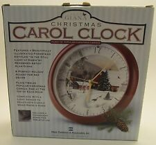 "Christmas Carol Clock - ""In the Still Light of Dawn"" (Alan Giana) New in Box"