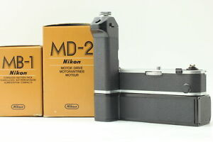 [UNUSED in 2BOX] Nikon MD-2 Motor Drive w/ MB-1 Battery Pack for F2 from JAPAN