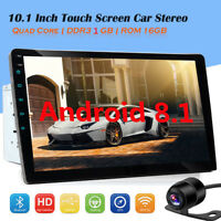 10.1 2DIN Android 8.1 Car Stereo NO DVD Radio MP5 Player GPS 4G WIFI +Camera