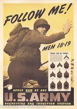 Postcard: Follow Me! Men 18-19 (U.S. Army 1939 Recruitment Poster) (2014)