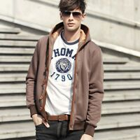 Men's Fashion Outwear Sweater  Warm Button Hooded Sweatshirt Hoodie Coat Jacket