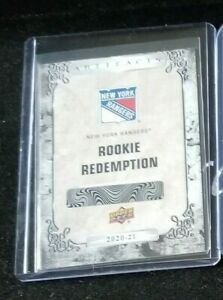2020-21 Artifacts #200 New York Rangers REDEMPTION**FREE COMBINED SHIPPING**