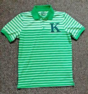 "KIWI Mini Pris Size S Polo Shirt Green Pit to Pit 20.5"" 3D Letter 'K' on chest"