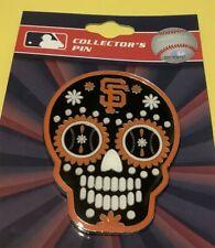 SAN FRANCISCO GIANTS LARGE SUGAR SKULL MLB COLLECTOR PIN