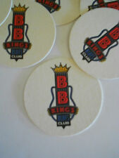 SET OF 6 BB KINGS BLUES CLUB BEER COASTERS MATS BEALE ST. MEMPHIS