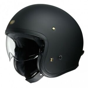 SHOEI J.O OPEN FACE HELMET Motorcycle cruiser MATT BLACK ALL SIZES