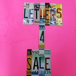 License Plate Letters and Numbers