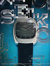 PUBLICITE  1972   SEIKO    collection montre