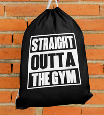Straight Outta The Gym Drawstring Bag Economical Gym Sports Backpack Reusable