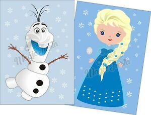 Pin The Nose on Olaf, Elsa Game -15 Players A3 size