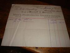 Antique Letterhead Hurssell Harcourt Mens Chicago 1883