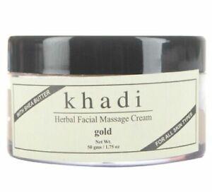 Khadi Gold Herbal Facial Massage Cream with Shea Butter 50 gm Free Shipment
