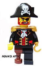 LEGO Pirata Brickbeard Minifigura Nuevo con Cutlass