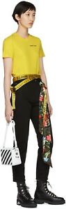 Off White Yellow Industrial Belt. Stylish, fashion, one of a kind