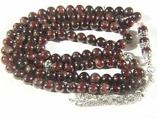 9mm x 99 GARNET ISLAMIC PRAYER BEADS TASBIH MASBAHA SUBHA QURAN GIFT