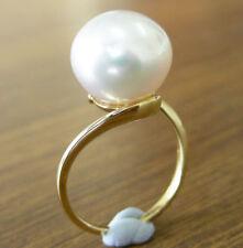 Anelli di lusso con perle bianco perla in oro giallo