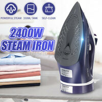 2400W Cordless Steam Iron Effortless Ironing Anti-scale Non Stick   y