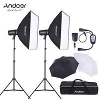 Photography Studio 600W Strobe Flash Speedlite Light Lighting Softbox Kit X1T3