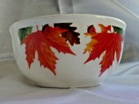 4 ROYAL NORFOLK COLORFUL LEAVES SOUP CEREAL BOWLS FALL AUTUMN THANKSGIVING NEW