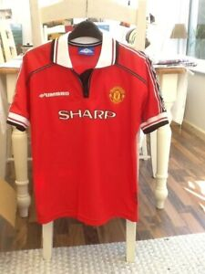 OFFICIAL UMBRO 1998/99 MANCHESTER UNITED HOME SHIRT GIGGS No.11 AGE:12/13 YEARS