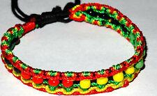 Bracelet Brésilien Rasta Reggae Bob Marley Jamaique coton Friendship Jamaica