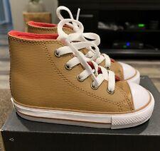 NEW-Converse Toddler Boys Burnt Camel-High Top Boot 761947C -Size 10