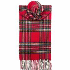Lochcarron Mens/Ladies Royal Stewart 100% Lambswool Scarf - Made in Scotland