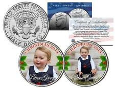PRINCE GEORGE CAMBRIDGE *2014 CHRISTMAS* Colorized JFK Half Dollar US 2-Coin Set