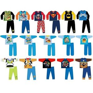 Boys Character Pyjamas PJs Size 6 Months to 12 Years Officially Licensed Kids PJ