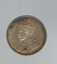 1919 Canada 25 Cents coin KM 24 Gold Toning